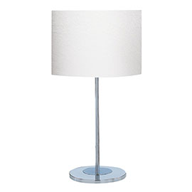 Revive Chrome Table Lamp with White Shade