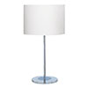 Revive Chrome Table Lamp with White Shade profile small image view 1