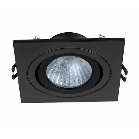 Revive IP65 Matt Black Square Tiltable Bathroom Downlight