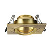 Revive IP65 Satin Brass Square Tiltable Bathroom Downlight profile small image view 1