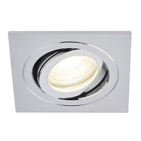Revive IP65 Chrome Square Tiltable Bathroom Downlight