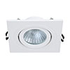 Revive IP65 White Square Tiltable Bathroom Downlight profile small image view 1