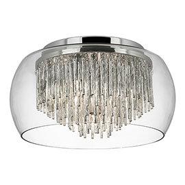 Revive Encased Flush Glass Ceiling Light