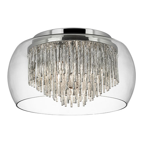 Revive Encased Flush Glass Ceiling Light