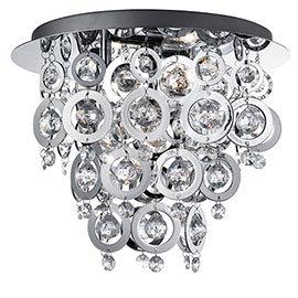 Revive Chrome Rings Semi-Flush Chandelier Ceiling Light