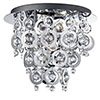 Revive Chrome Rings Semi-Flush Chandelier Ceiling Light profile small image view 1