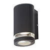 Revive Outdoor Black Ridged Single Downlight profile small image view 1