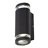 Revive Outdoor Black Ridged Up & Down Wall Light profile small image view 1
