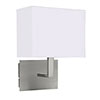 Revive White / Silver Bedroom Wall Light profile small image view 1