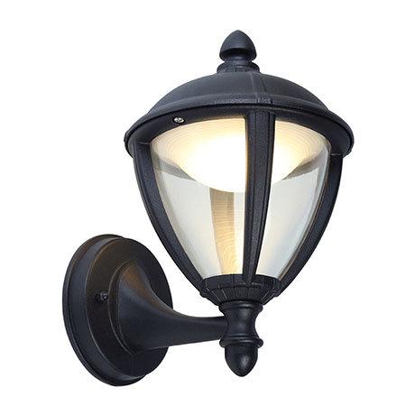 Revive Outdoor Matt Black LED Up Lantern