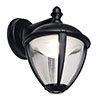 Revive Outdoor Matt Black LED Down Lantern profile small image view 1