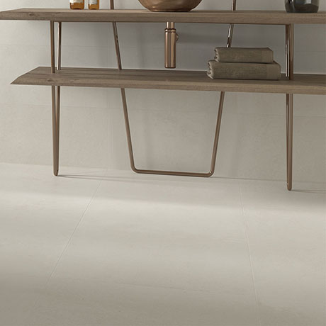 Riverton White Wall and Floor Tiles - 600 x 600mm