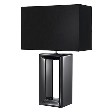 Revive Black Mirror Table Lamp with Rectangular Shade