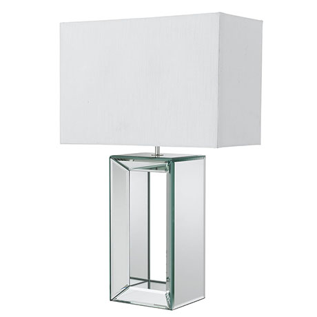 Revive Mirror Table Lamp with Rectangular Shade