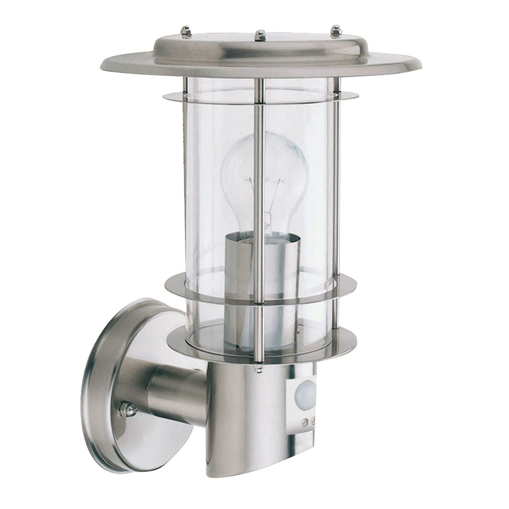 Revive Stainless Steel Porch Light with Motion Sensor