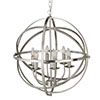 Revive Silver Cage Pendant Light - 6 Light profile small image view 1