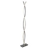 Revive Chrome Wave LED Floor Lamp profile small image view 1