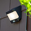 Revive Outdoor Solar PIR Wall Light (W118 x L125 x H69mm) profile small image view 1