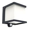 Revive Outdoor Solar PIR Wall Light (W110 x L129 x H110mm) profile small image view 1