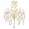Revive Brass 5 Light Bathroom Chandelier profile small image view 1