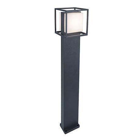 Revive Outdoor Cube Dark Grey Bollard Light