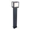 Revive Outdoor Cube Dark Grey Bollard Light profile small image view 1