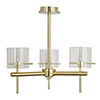 Revive Satin Brass 3-Light Bathroom Ceiling Light with Glass Cylinder Shades profile small image view 1