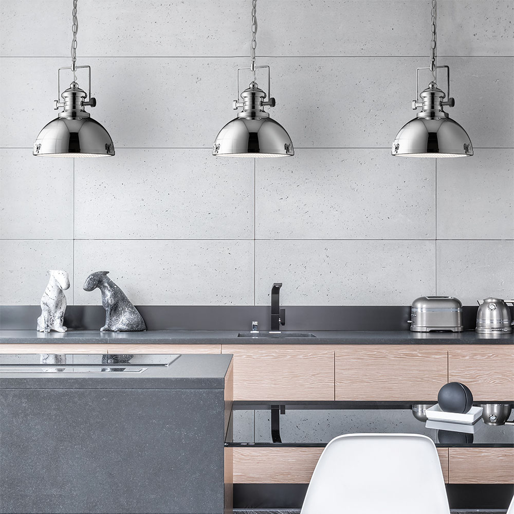 Revive Chrome Industrial Pendant Light