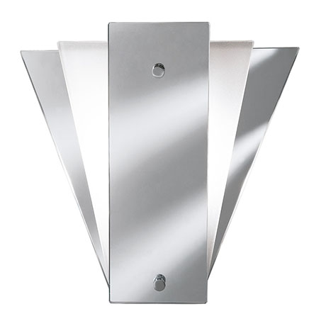 Revive Art Deco Mirror Wall Light with Frosted Glass
