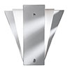 Revive Art Deco Mirror Wall Light - Frosted Glass profile small image view 1