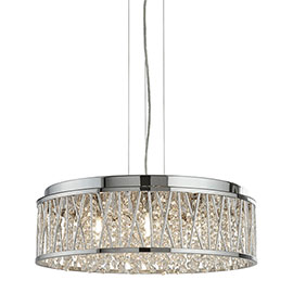 Revive Contemporary Chrome Crystal Chandelier