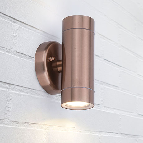 Revive Outdoor Modern Copper Up & Down Wall Light