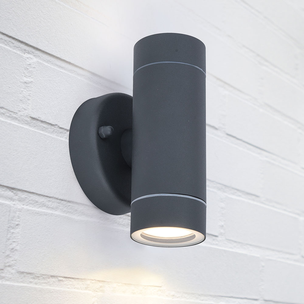 Revive Outdoor Modern Black Up & Down Wall Light