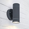 Revive Outdoor Modern Black Up & Down Wall Light profile small image view 1