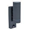 Revive Outdoor PIR Modern Black Up & Down Wall Light profile small image view 1