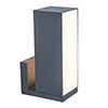 Revive Smart Outdoor Rotatable Dark Grey Wall Light profile small image view 1