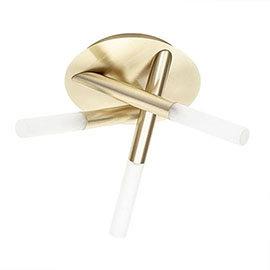 Revive Satin Brass Tubular 3 Light Ceiling Fitting