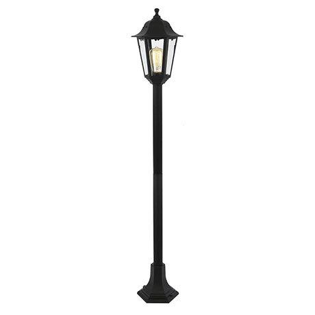 Revive Outdoor Black 6-Panel Tall Post Lantern