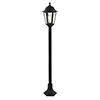 Revive Outdoor Black 6-Panel Tall Post Lantern profile small image view 1