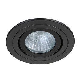 Revive IP65 Matt Black Round Tiltable Bathroom Downlight