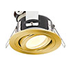 Revive IP65 Satin Brass Round Tiltable Bathroom Downlight profile small image view 1