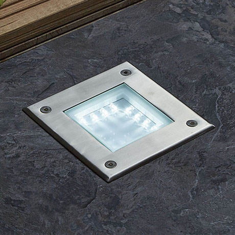 Revive Outdoor Square Walkover Stainless Steel Light