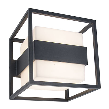 Revive Outdoor Cube Dark Grey Wall Light