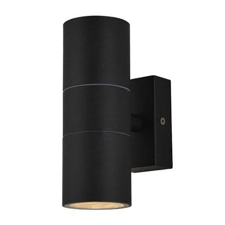 Revive Outdoor Textured Black Up & Down Wall Light