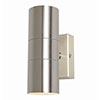 Revive Outdoor Brushed Stainless Steel Up & Down Wall Light profile small image view 1