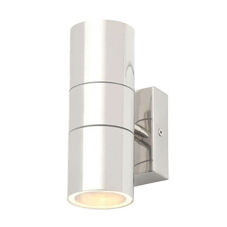 Revive Outdoor Polished Stainless Steel Up & Down Wall Light