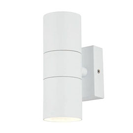 Revive Outdoor Textured White Up & Down Wall Light