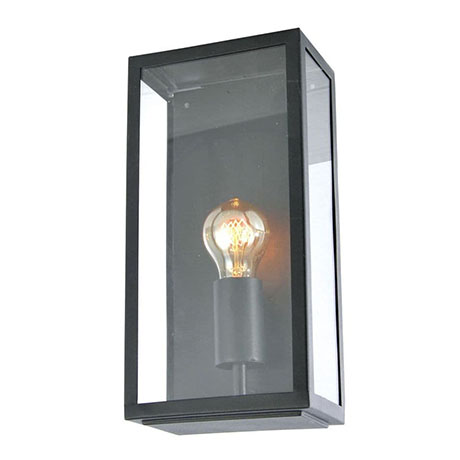 Revive Outdoor Satin Black Box Lantern