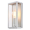 Revive Outdoor Satin Silver Box Lantern profile small image view 1