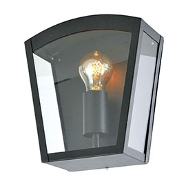 Revive Outdoor Satin Black Curved Top Box Lantern